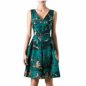Oscar de la Renta Silk Brocade Cocktail Dress SZ12